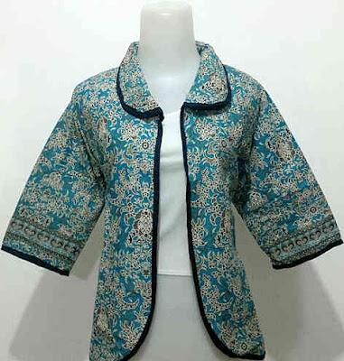 Bolero Batik Wanita Kantoran motif bunga