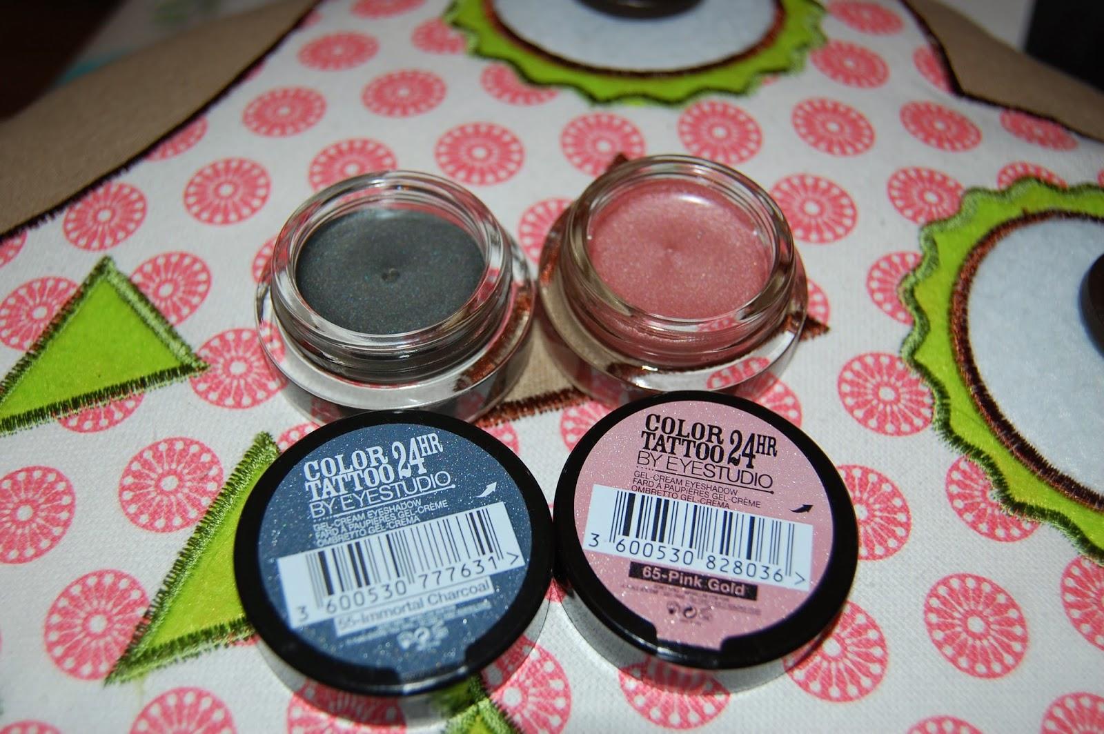 maybelline colour tattoo, eyeshadow, gel eyeshadow, pink, grey, metallics, make up, bbloggers, bblogger, beauty, maybelline