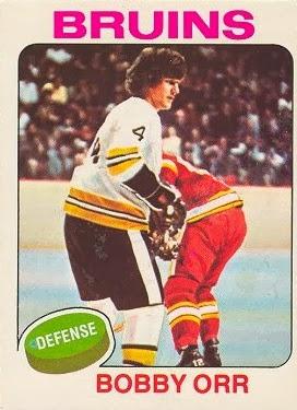 bobby orr 1975-76 o-pee-chee hockey card boston bruins