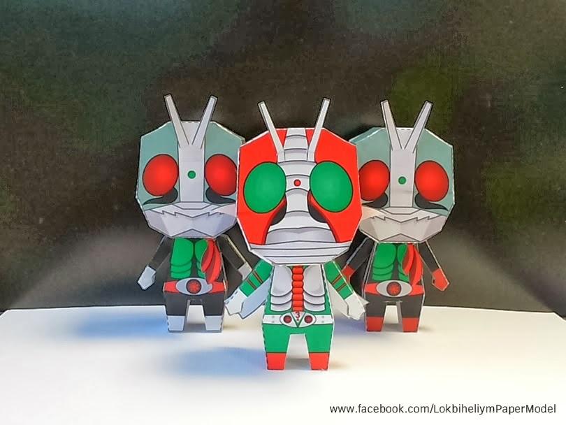 Kamen Rider Ichigo Papercraft Toy-1