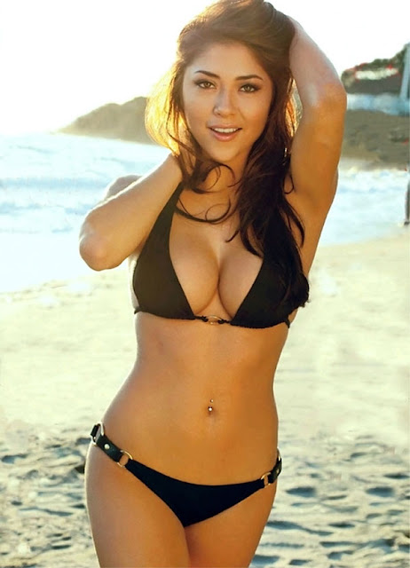 ufc mma ring girl arianny celeste beach photoshoot picture image