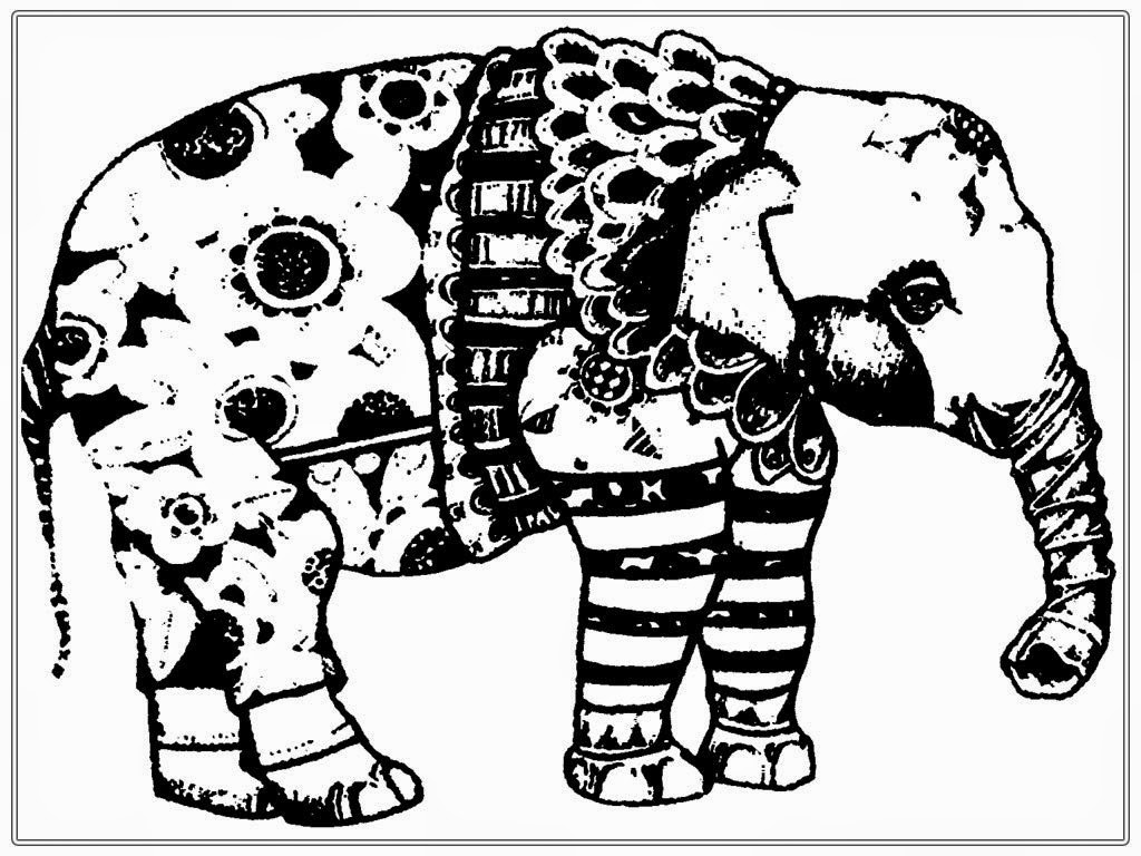 coloring pages free african elephant realistic coloring pages