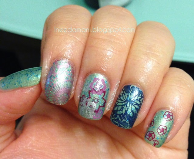 moyou london suki collection 02 and 04 nail stamping