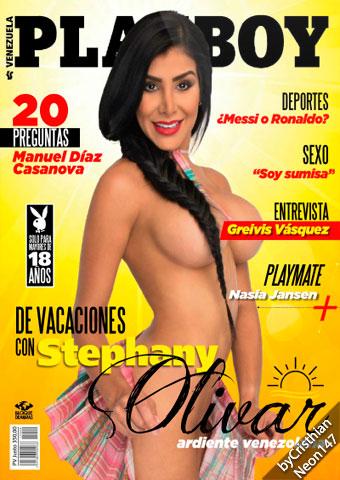 Stephany Olivar Revista Playboy Venezuela - Agosto 2015