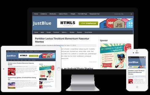 Chia sẻ template JustBlue Responsive convert từ Wordpress
