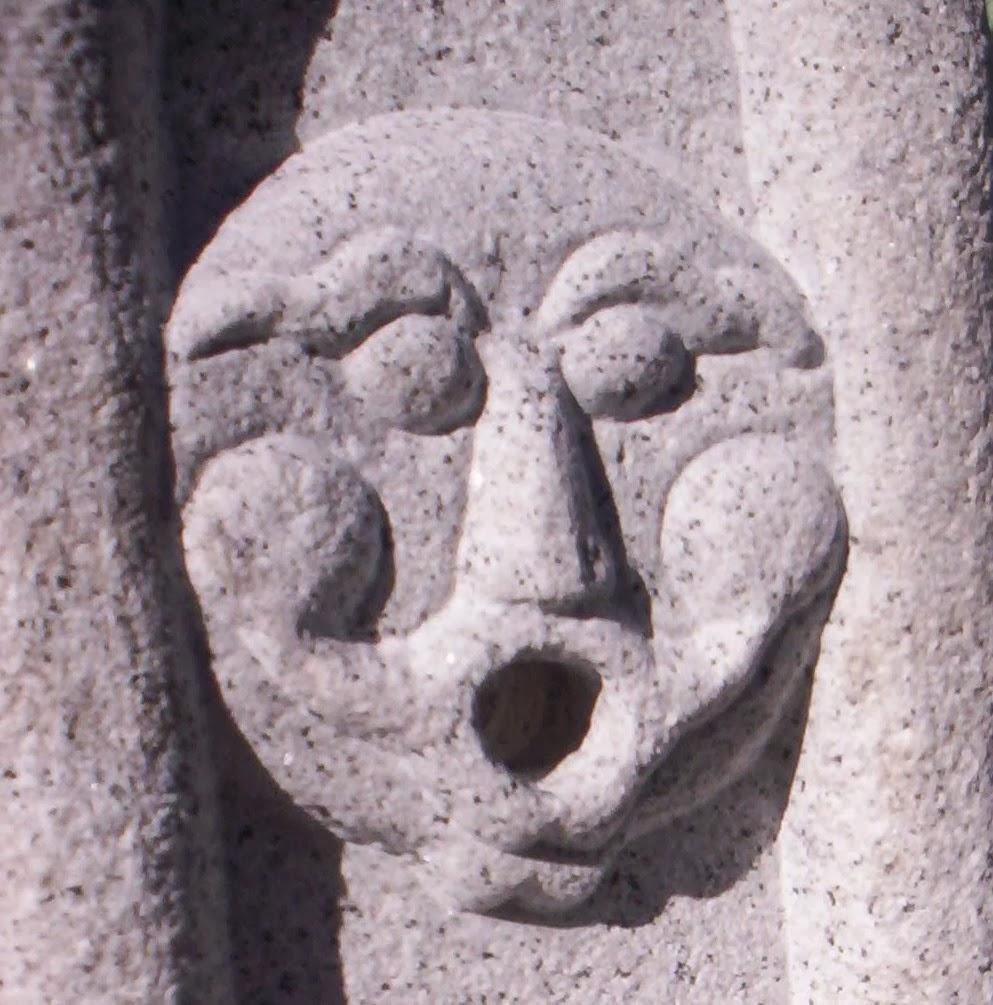 Canter a paso a paso fuentes con relieve y pila Fuentes de piedra antiguas