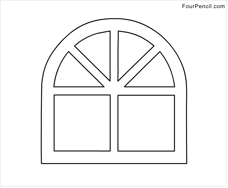 free coloring pages of window