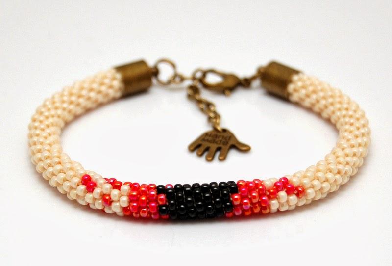 bransoletka koralikowa szydełkowa bead crochet bracelet 11