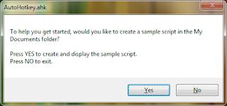 Create sample script in Auto Hot Key