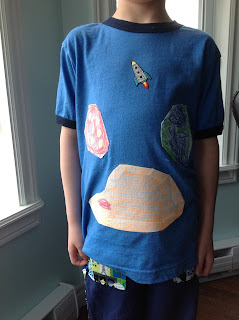 Space Pants and Planets T by Cicely Ingleside