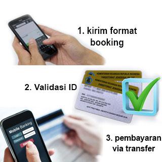 Booking mudah 3 langkah