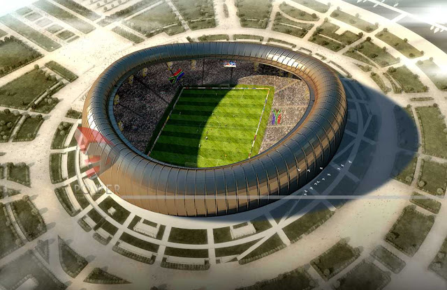 Exterior View Of Sport Stadium,3d architecture design,