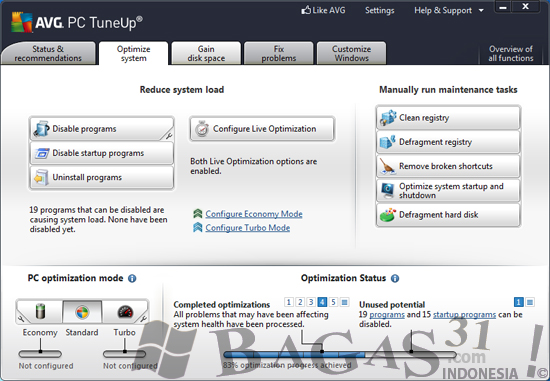 AVG PC TuneUp 2012 Full Patch - BAGAS31.com