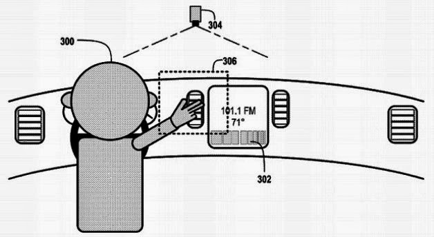 Google patent: Gesture-based car controls