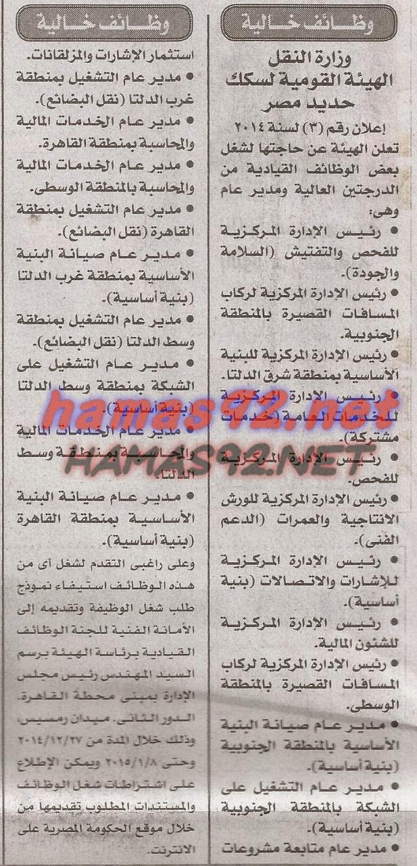 وظائف جريدة الاخبار الجمعة 26/12/2021