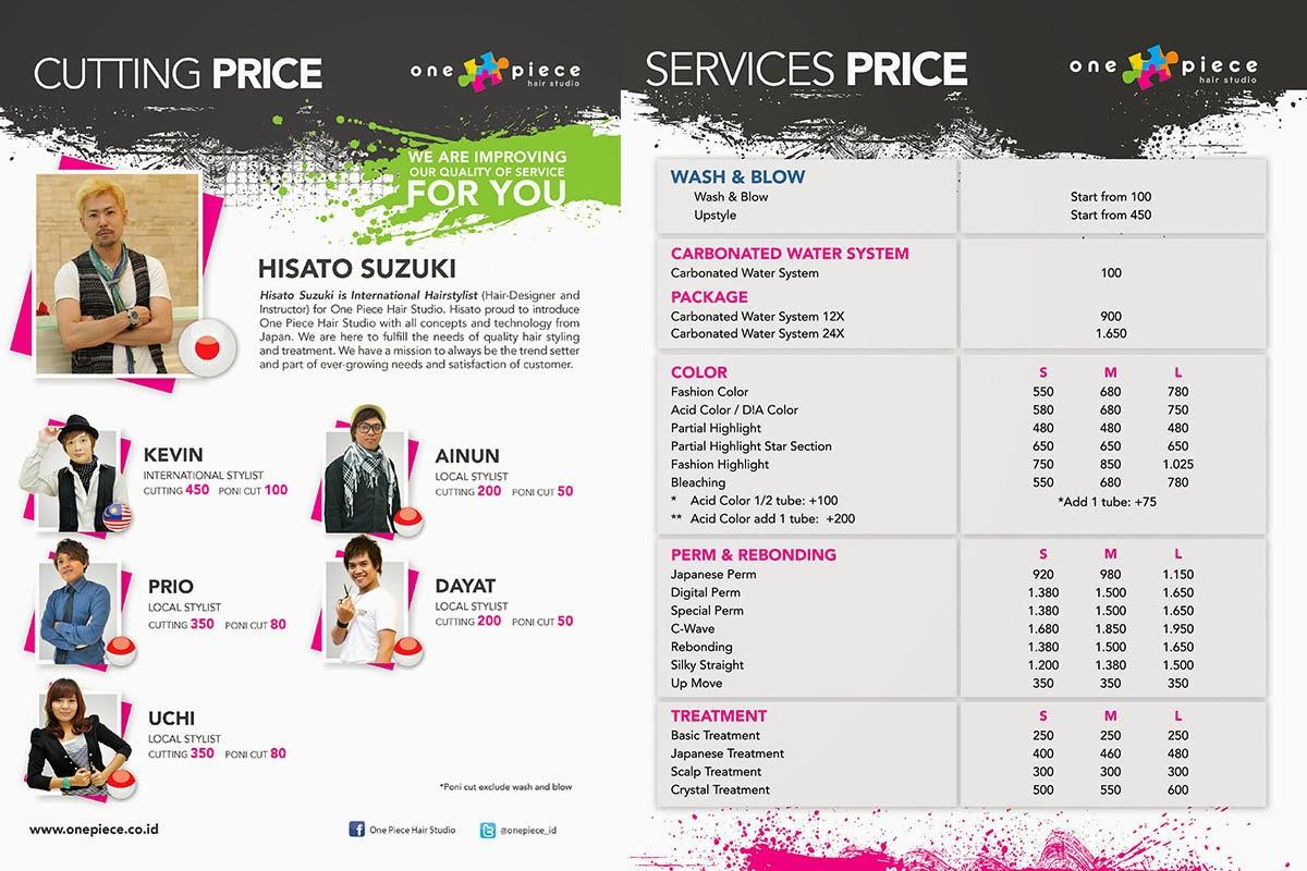Beauty salon price list template pricelist on central park