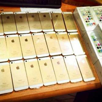 Apple iPhone 5S, gold, proof of stock, MidwestGSM