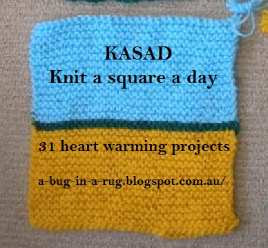 KASAD: Knit a square a day: Launch