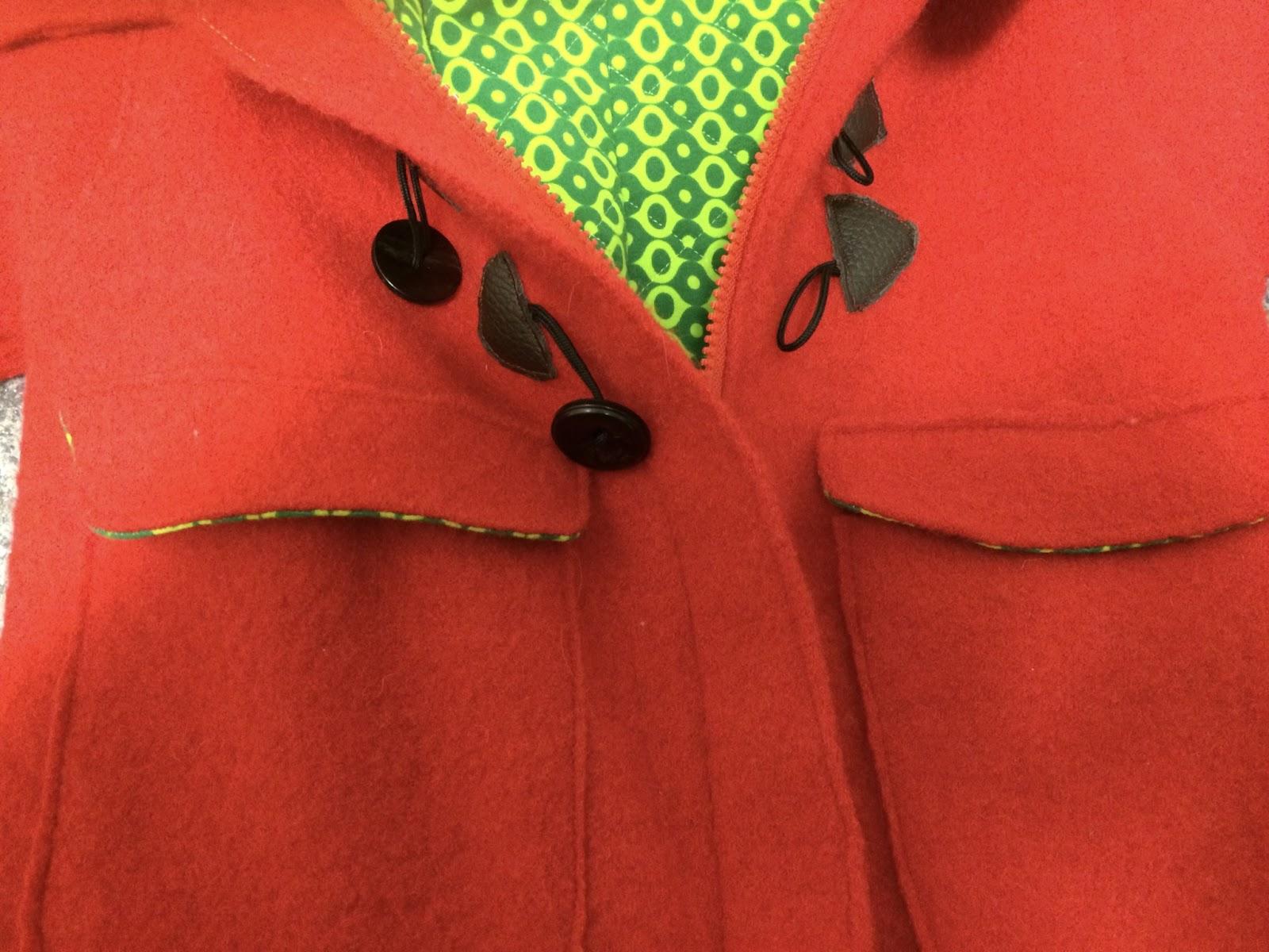 UnikatUli: Roter Dufflecoat -- Eigenkreation