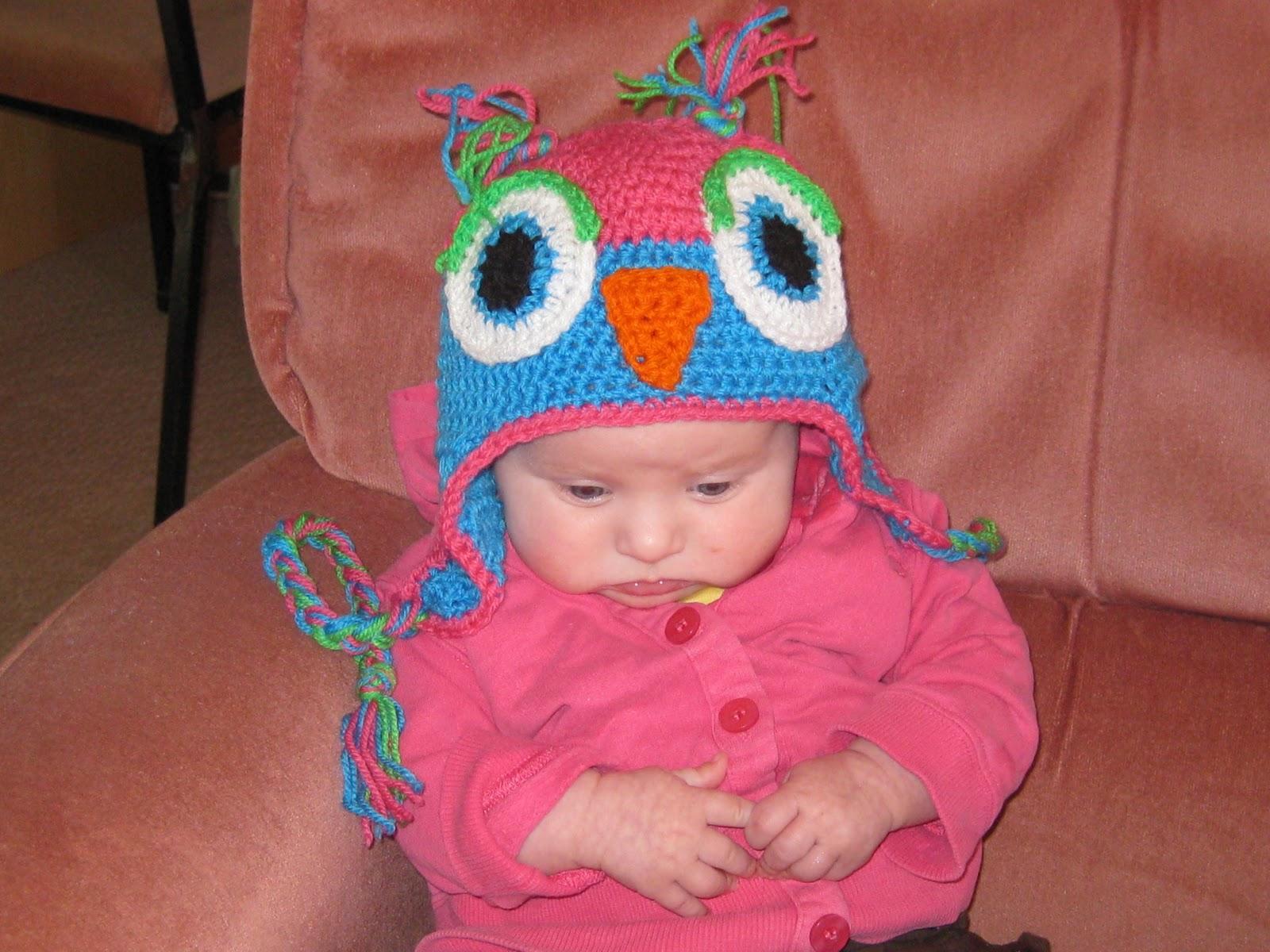 Free Pattern Crochet Owl Hat : Crochet Owl Hat