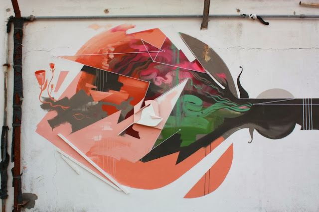 Street Art By Spanish painter Xabier XTRM on the streets of Tolosa, Spain.