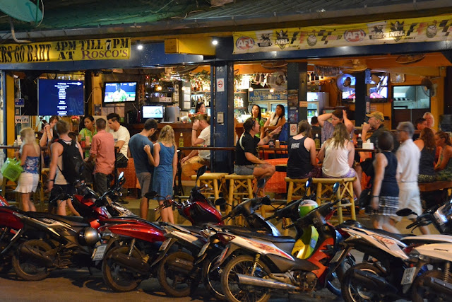 Patong Beach by night motor cycles