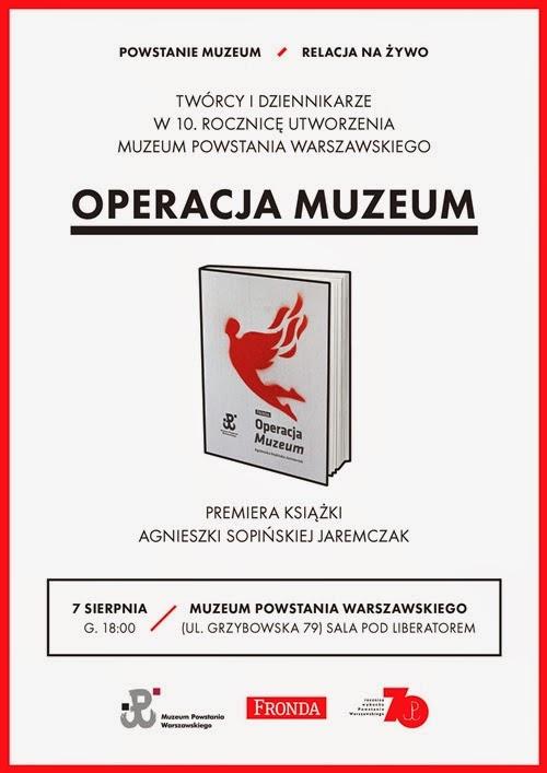 """Premiera książki """"Operacja Muzeum"""""""