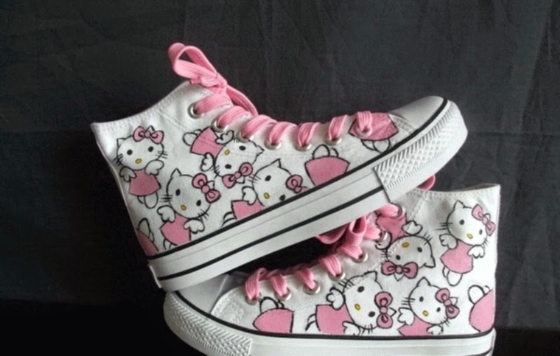 Model sepatu hello kitty anak lucu terbaru