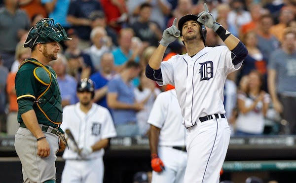 J.D. Martinez, Anibal Sanchez earn Tigers monthly honors for June