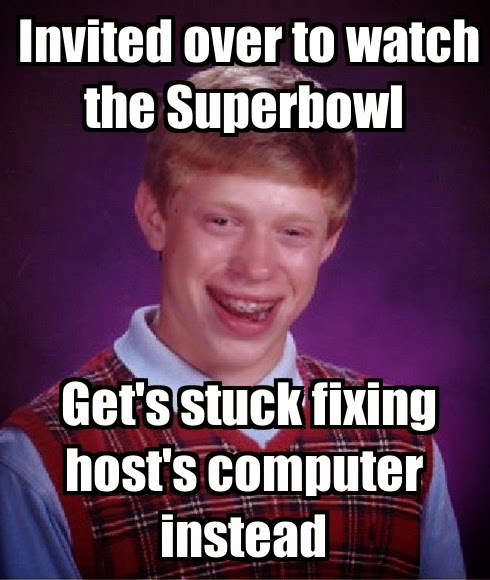 Superbowl social media Top 10 meme bad luck brian