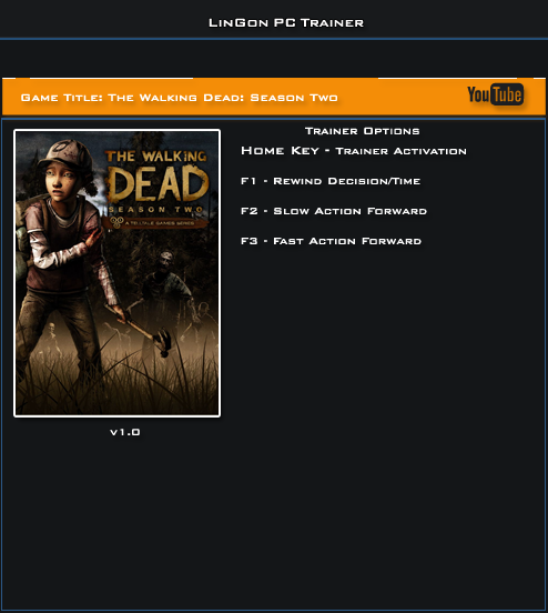 The Walking Dead Season 2 v1.0 Trainer +3 [LinGon]