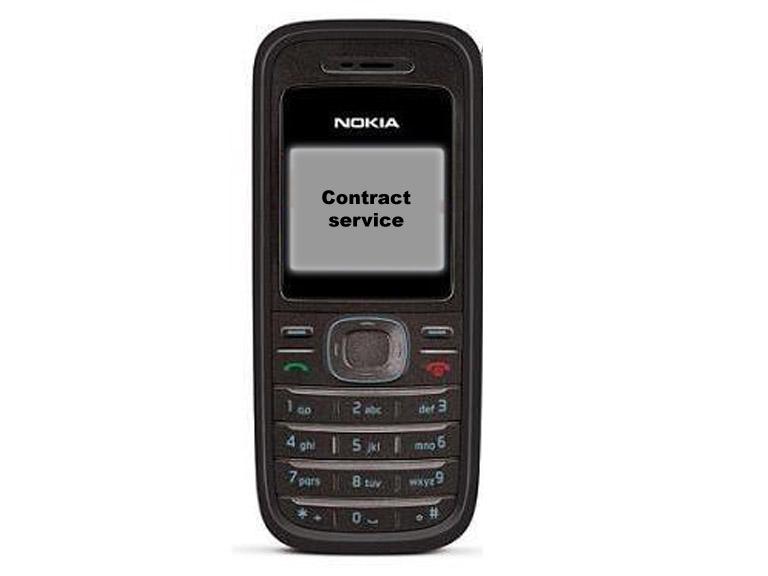 Nokia 1200 contact service
