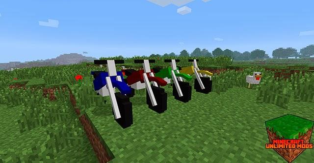 Dirtbike mod roja, azul, amarilla, verde