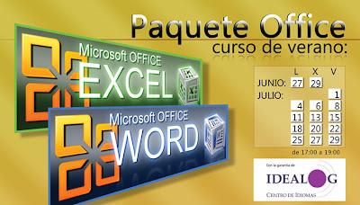 curso office excel word paquete verano