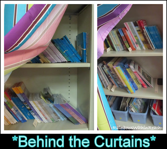 photo of: Curtains in Classroom (Organizational RoundUP via RainbowsWithinReach)