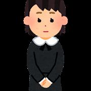 喪服を着た人のイラスト(女の子)