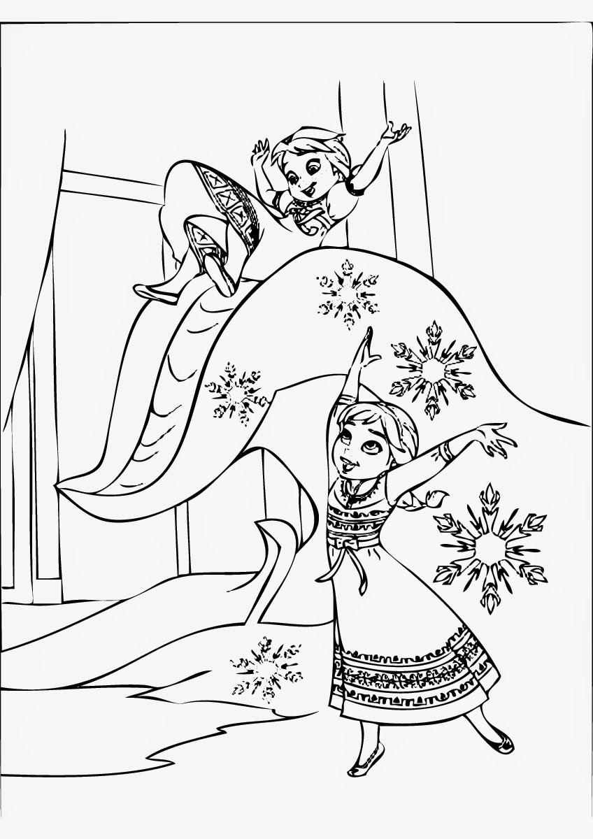 free disney frozen coloring page