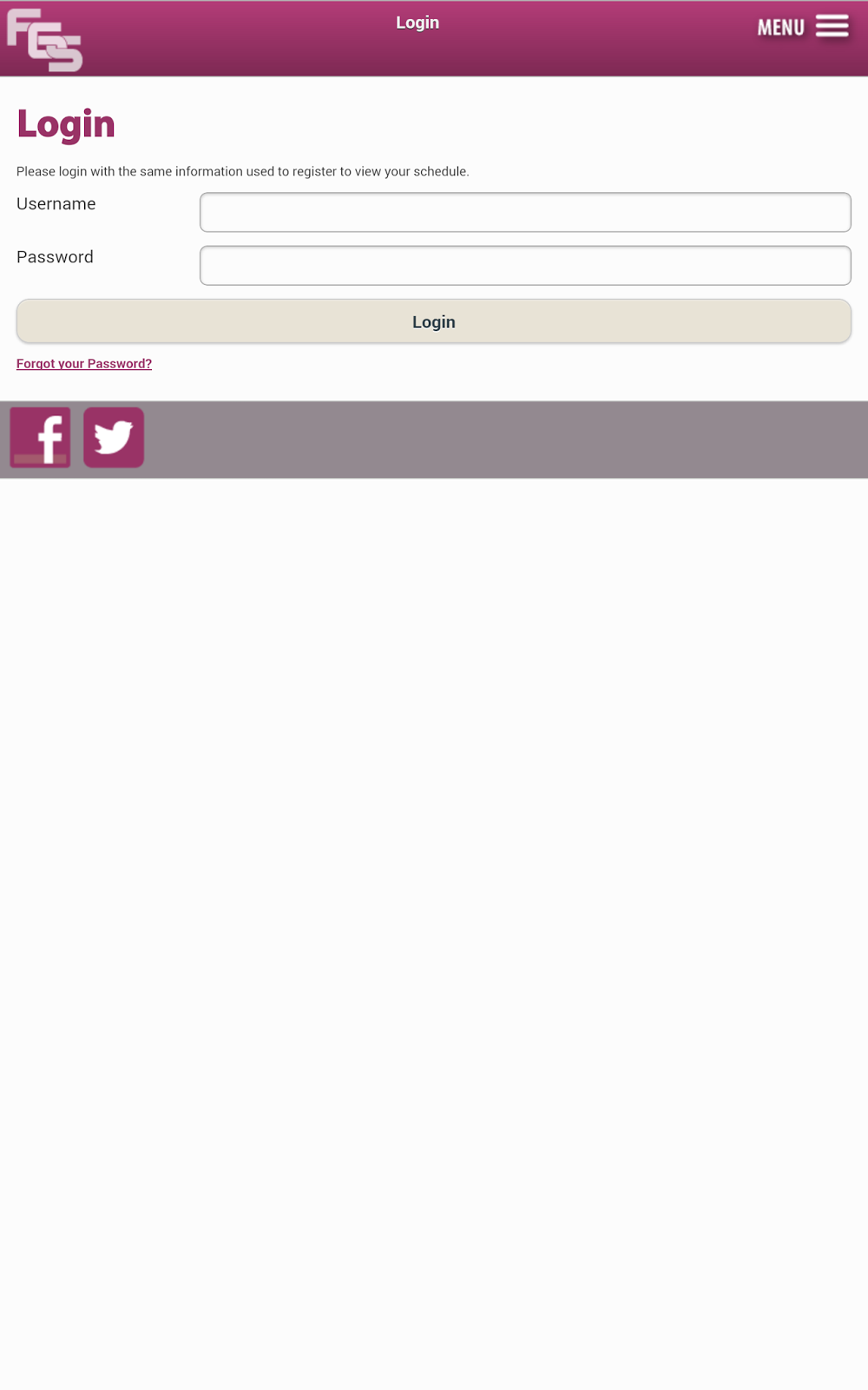 FGS App - Login