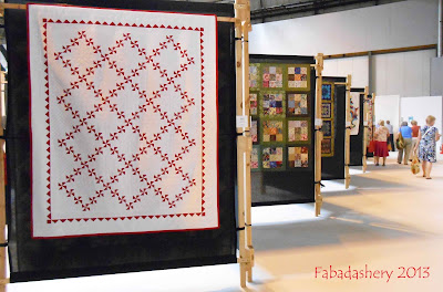 Red and White Pinwheel Quilt - NEC Festival of Quilts 2013
