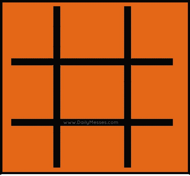 Halloween TicTacToe Crafthubs – Tic Tac Toe Template