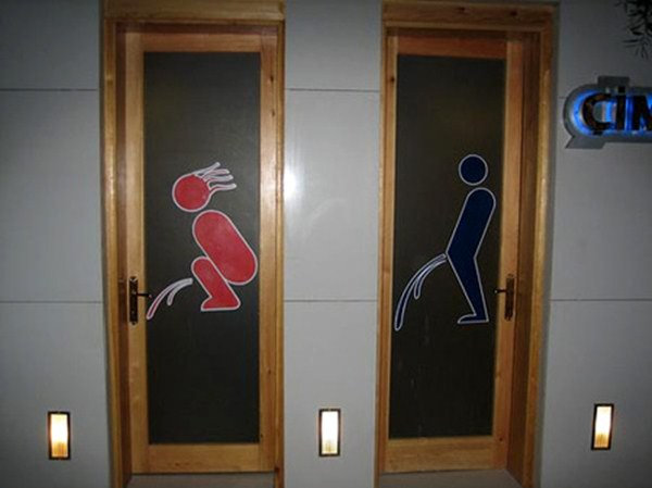 20 Creative Toilet Signs, interesting toilet signs, strange bathroom signs, funny toilet signs, bathroom signs