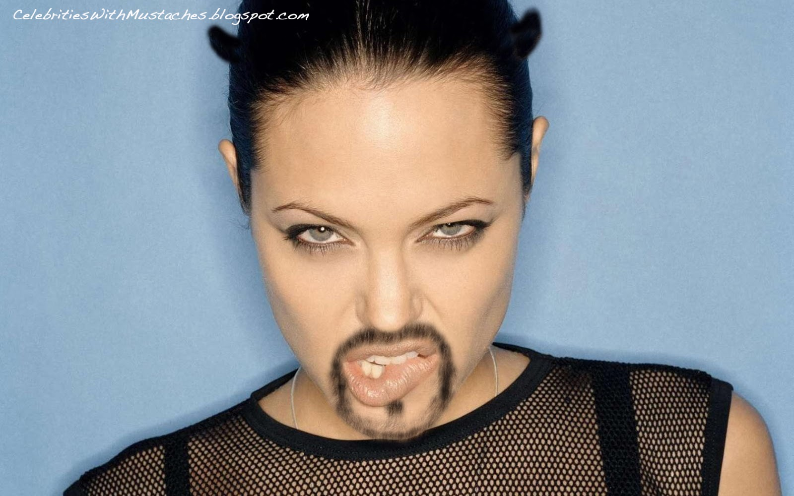 Angelina Jolie with a Goatee