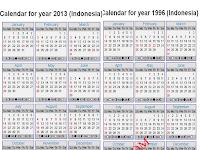 Wow Kalender 2014 dan 2015 Sama dengan Kalender 17 Tahun Lalu