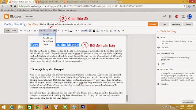 Hướng dẫn cách seo cho Blogspot theo chuẩn