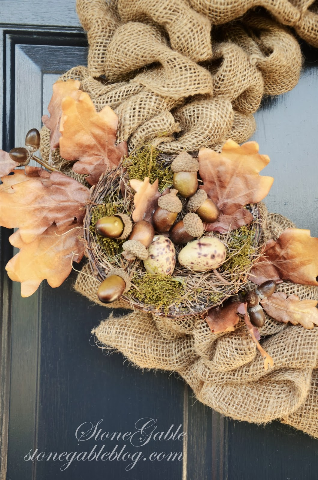 Burlap wreath tutorial stonegable for What can i make with burlap