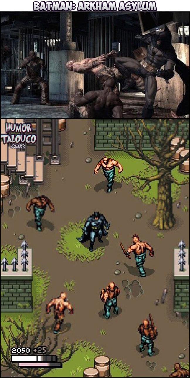 Games Atuais com Gráficos de Super Nintendo - Batman: Arkham Asylum