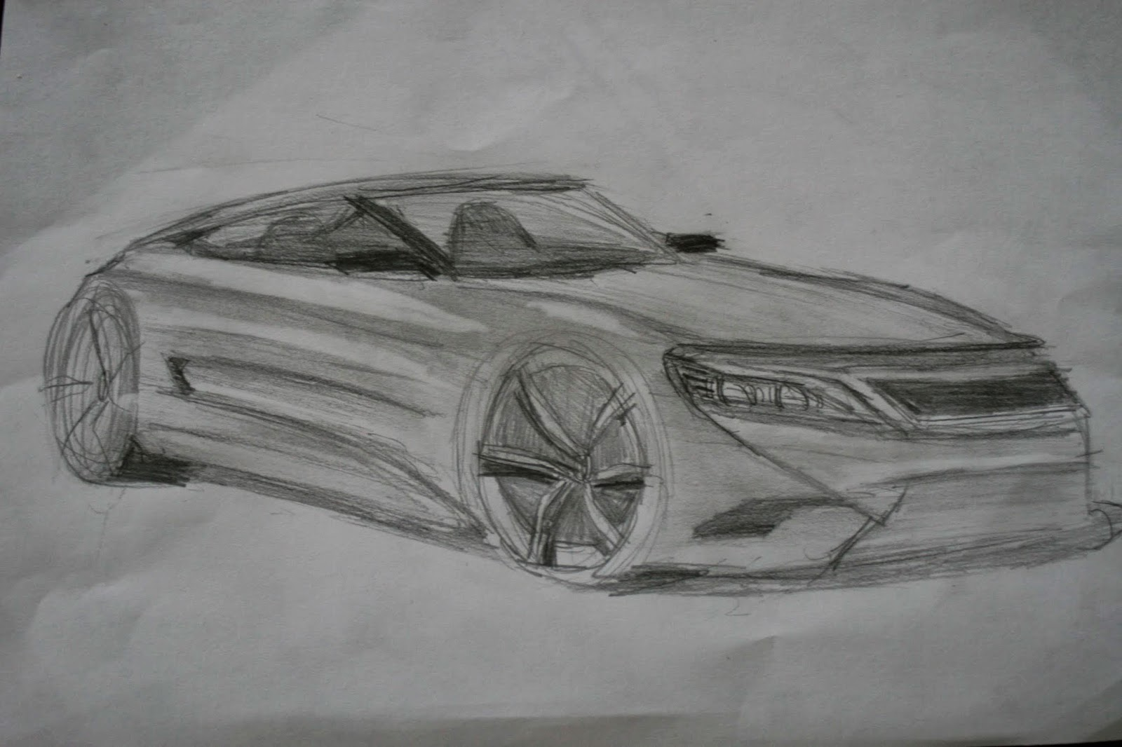 Pencil shading sketch
