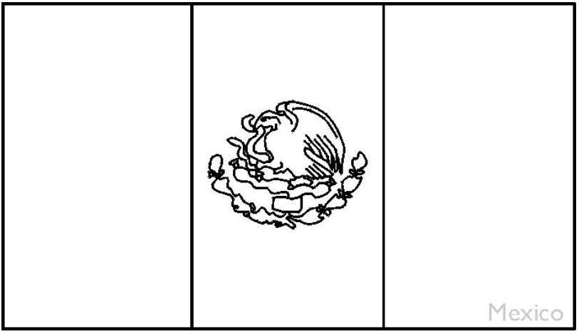 Hojas de colorear de la bandera mexicana - Imagui