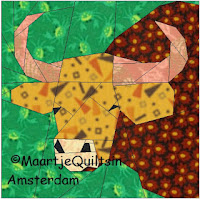 Free Bull quilt pattern from Maartje Quilts in Amsterdam
