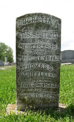 Lucretia Jollett Shiflett tombstone